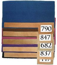 Western Trophy Show Saddle Pads with Number Slot NZ Wool